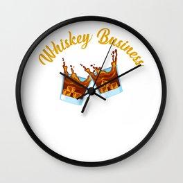 Whiskey Business Drinker Single Malt Bourbon Wall Clock