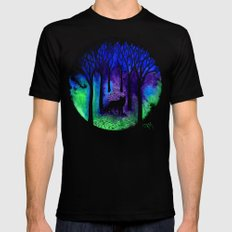 The Night Fox Mens Fitted Tee LARGE Black