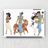 aladdin iPad Cases featuring Genderbend Aladdin by TEAM JUSTICE ink.