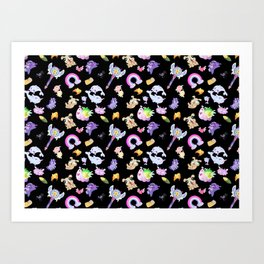 Star vs the Forces of Evil Pattern ( black ) Art Print