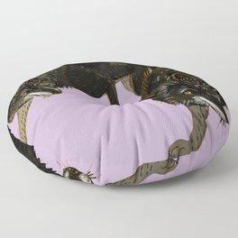 Totem black Buffalo wolf (nubilus) lavender Floor Pillow