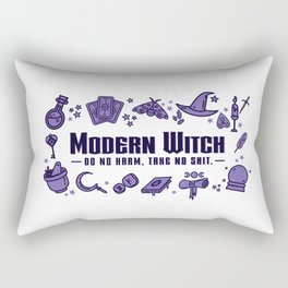 Modern Witch Do No Harm Rectangular Pillow