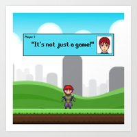 It's not just a Game! [Male Version 1] Art Print