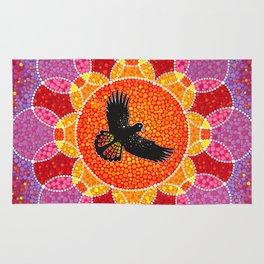 Flight of the Black Cockatoo Rug