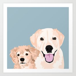 Carmen and Shelby Art Print