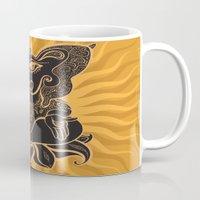 hindu Mugs featuring Hindu God Ganesha by Smyrna