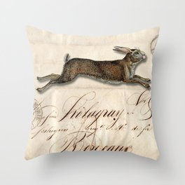 The French Rabbit Throw Pillow