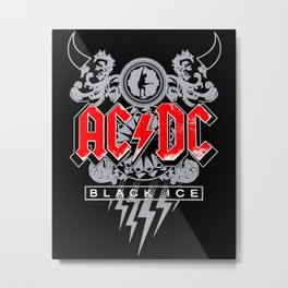 AC/DC - Black Ice Metal Print