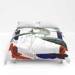 Tropical girl Comforters