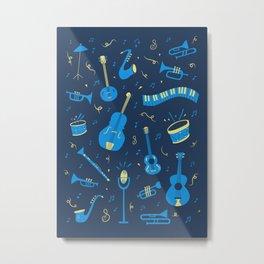 The Spirit of Jazz Pattern Metal Print