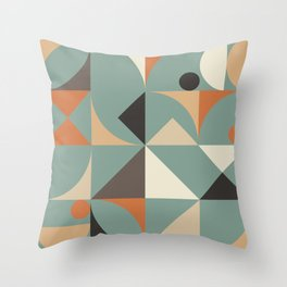 Mid Century 07C Throw Pillow