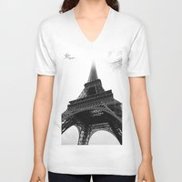 eiffel V-neck T-shirts featuring Eiffel by Julie Photographie