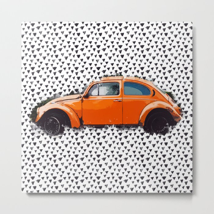 Orange Beetle Metal Print