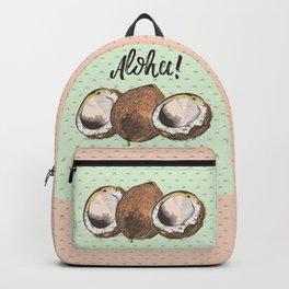 Coco nut vector illustration,Hawaii, aloha Backpack