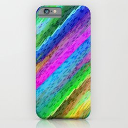 Colorful digital art splashing G478 iPhone Case