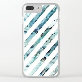 Sea Stripes Clear iPhone Case
