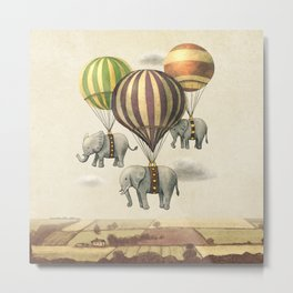 Flight of The Elephants Metal Print