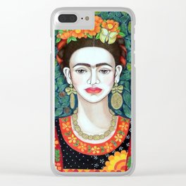 Frida, queen of hearts closer II Clear iPhone Case