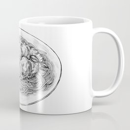 Spaghetti with Meatballs Sketch Coffee Mug