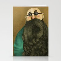 beard Stationery Cards featuring Beard by Slavena Peneva