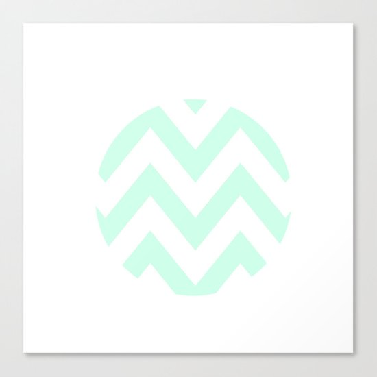 WHITE CIRCLE CHEVRON Canvas Print