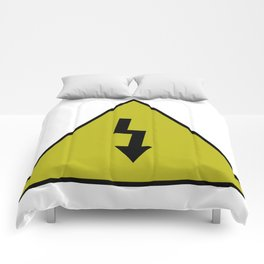 electric current danger signal Comforters