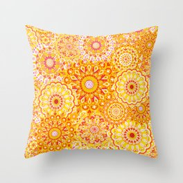 Mandala Sunshine Throw Pillow