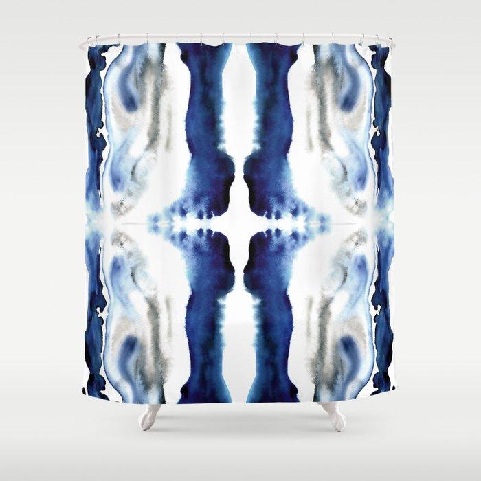 Indigo Geode Shower Curtain