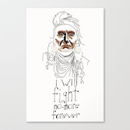 Chief with Lettering Canvas Print