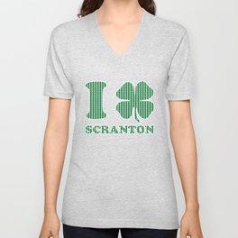 I Shamrock Scranton Love St Patricks Day 2018 Parade Unisex V-Neck
