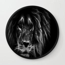 lion.  Black & White Wall Clock