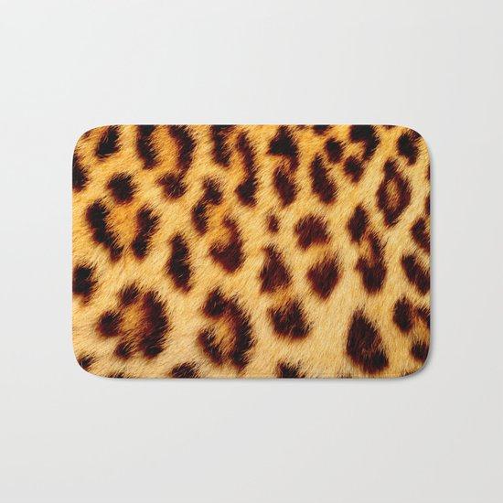 Leopard skin pattern Bath Mat