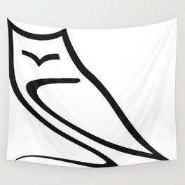Vector Style Owl Wall Tapestry