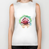 metroid Biker Tanks featuring Metroid Watercolor by Insomniac