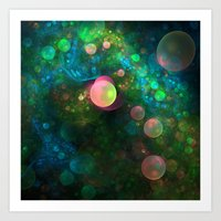psychadelic Art Prints featuring Inner Space by Lyle Hatch