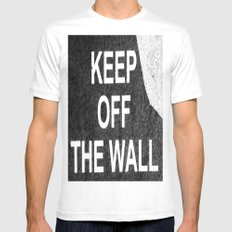 keep off the wall Mens Fitted Tee White MEDIUM