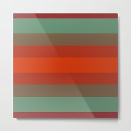 Rust Turquoise Spice - Color Therapy Metal Print
