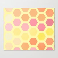 honeycomb Canvas Prints featuring Honeycomb by MisfitIsle