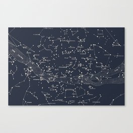 Carte du Ciel I Canvas Print