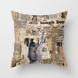 Tough Boys Throw Pillow