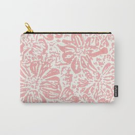 Marigold Lino Cut, Rose Pink Carry-All Pouch