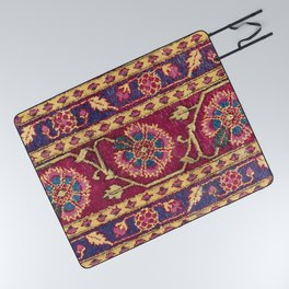 Mughal North Indian Late 17th Century Silk Carpet Print Picnic Blanket