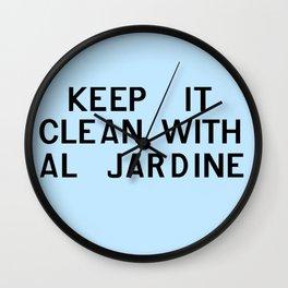 Keep It Clean With Al Jardine Wall Clock