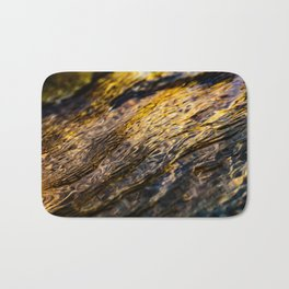 River Ripples in Yellow Gold and Brown Bath Mat
