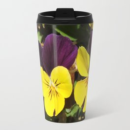 The Pansies at the Corner Travel Mug