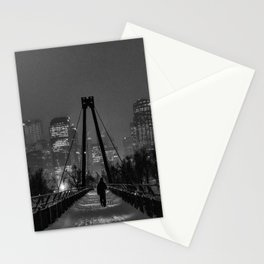 Winter Walk; Calgary in the Snow Stationery Cards