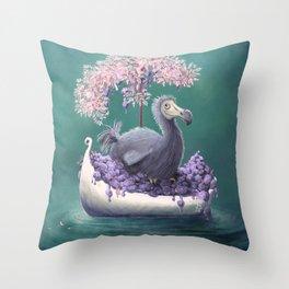 Once Upon a Dodo Throw Pillow