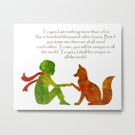 Little Prince Quote Metal Print