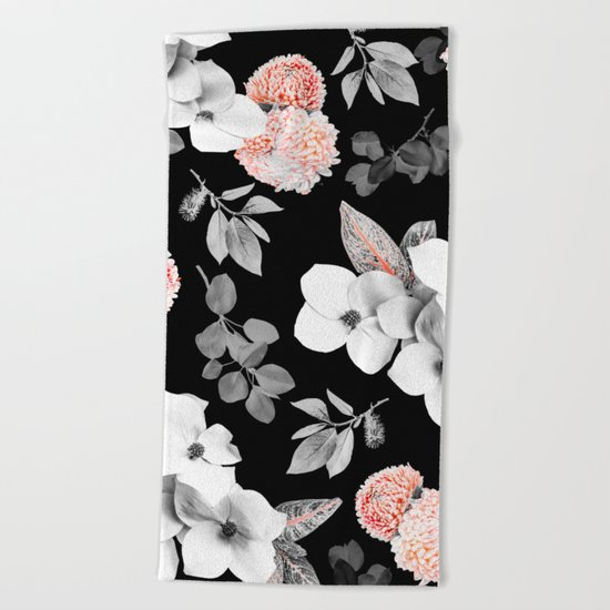 Night bloom - moonlit flame Beach Towel