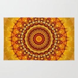 Mandala bright yellow Rug